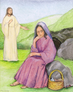 Easter Classroom Meditation - Jesus Appears to Mary Magdalene Scene #2