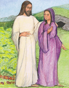 Easter Classroom Meditation - Jesus Appears to Mary Magdalene Scene #3