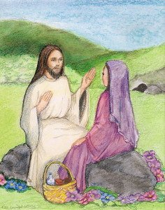 Easter Classroom Meditation - Jesus Appears to Mary Magdalene Scene #5