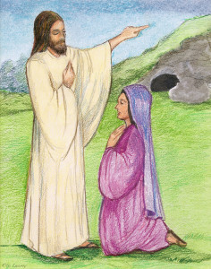 Easter Classroom Meditation - Jesus Appears to Mary Magdalene Scene #6