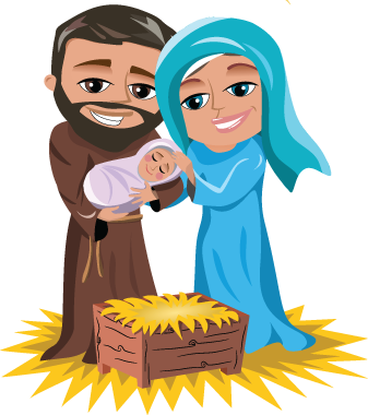 Joseph And Mary With Infant Jesus